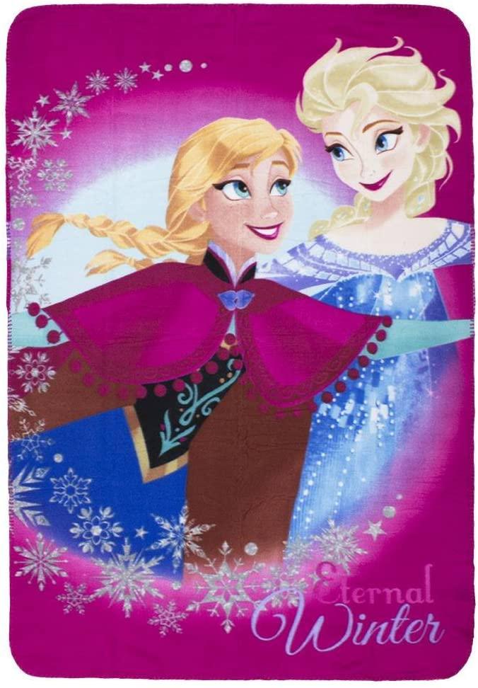 Disney Plaid Frozen Elsa E Anna Fuxia 100X140 CM Inverno 2021