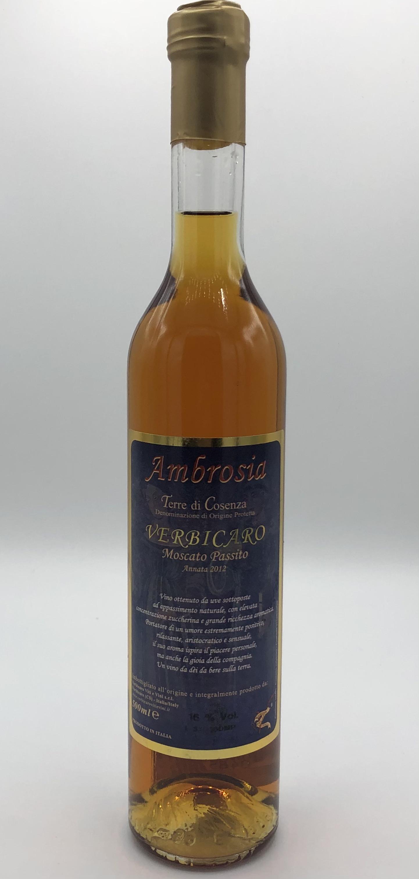 Vino Verbicaro Ambrosia Moscato Passito CL.50