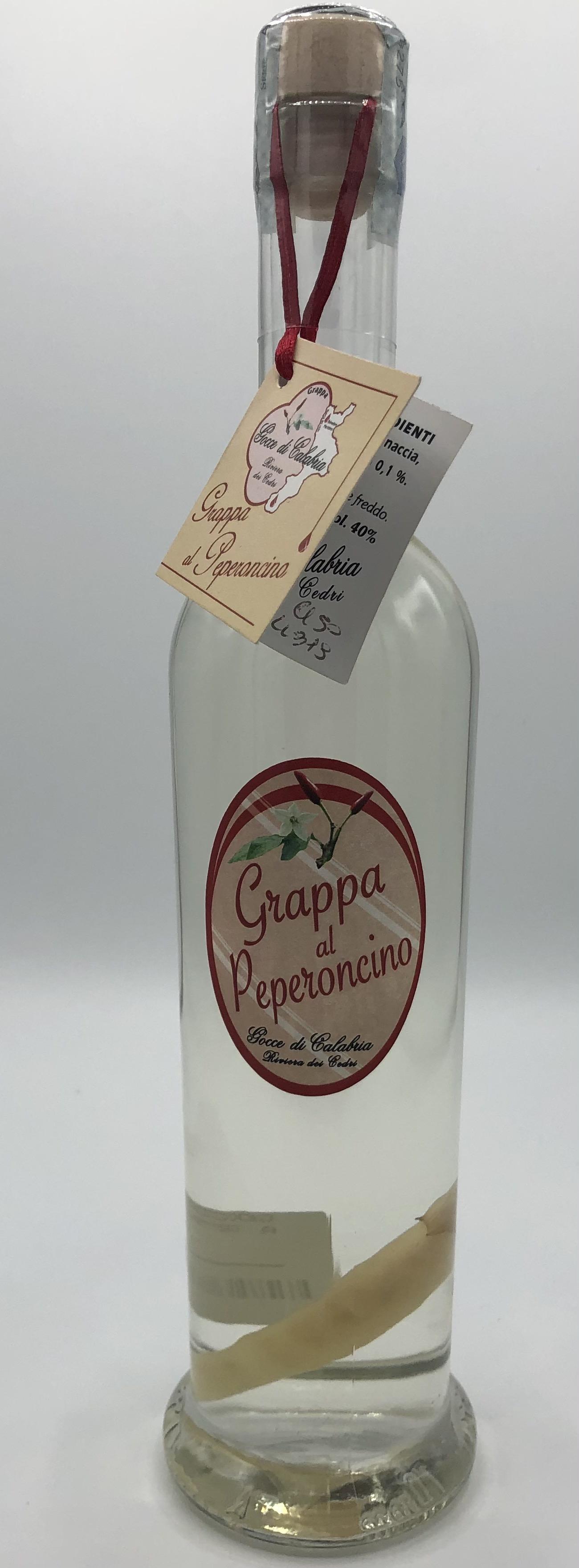 Grappa Artigianale Gocce Di Calabria Al Peperoncino CL. 50