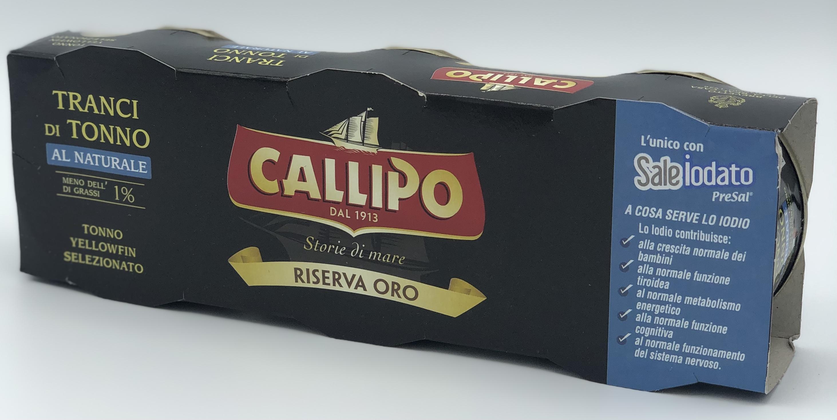 Callipo Tonno Riserva oro Al Naturale GR.80x3 - latta