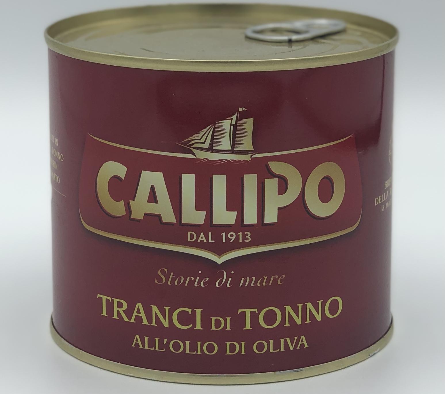 Callipo Tranci di Tonno in Olio di Oliva GR.620