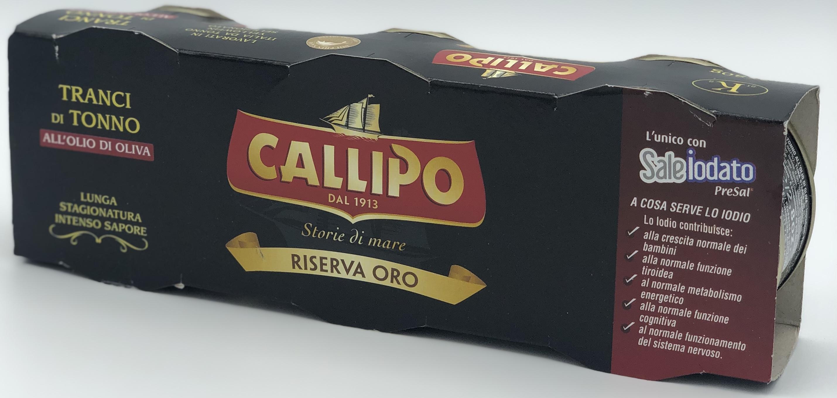 Callipo Tonno Riserva Oro all'Olio di Oliva 80x3 - latta