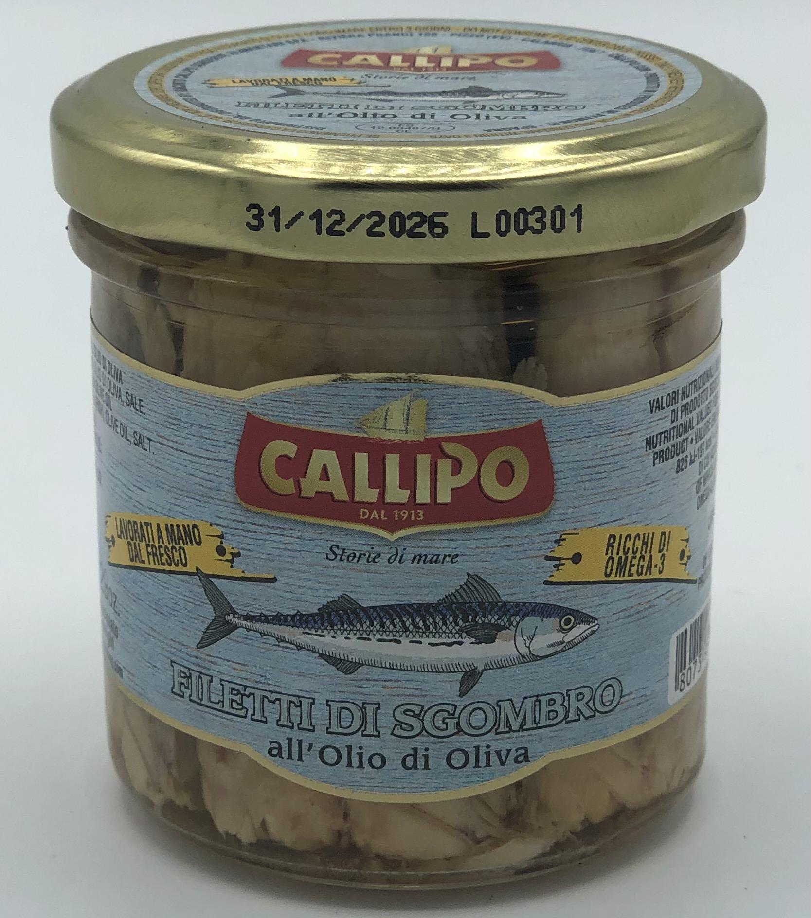 Callipo Filetti di Sgombro In Olio di Oliva GR.150