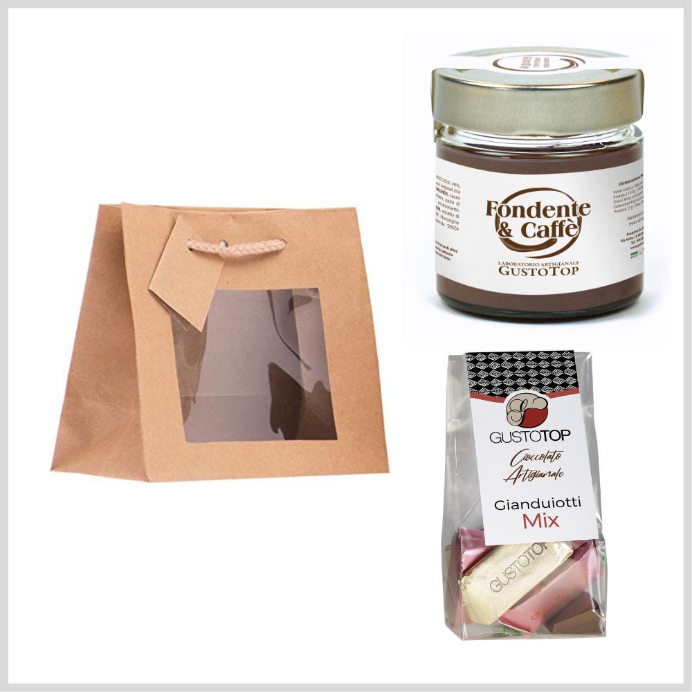 Tavoletta cioccolato al latte o fondente con cuore cioccolato bianco, 50gr