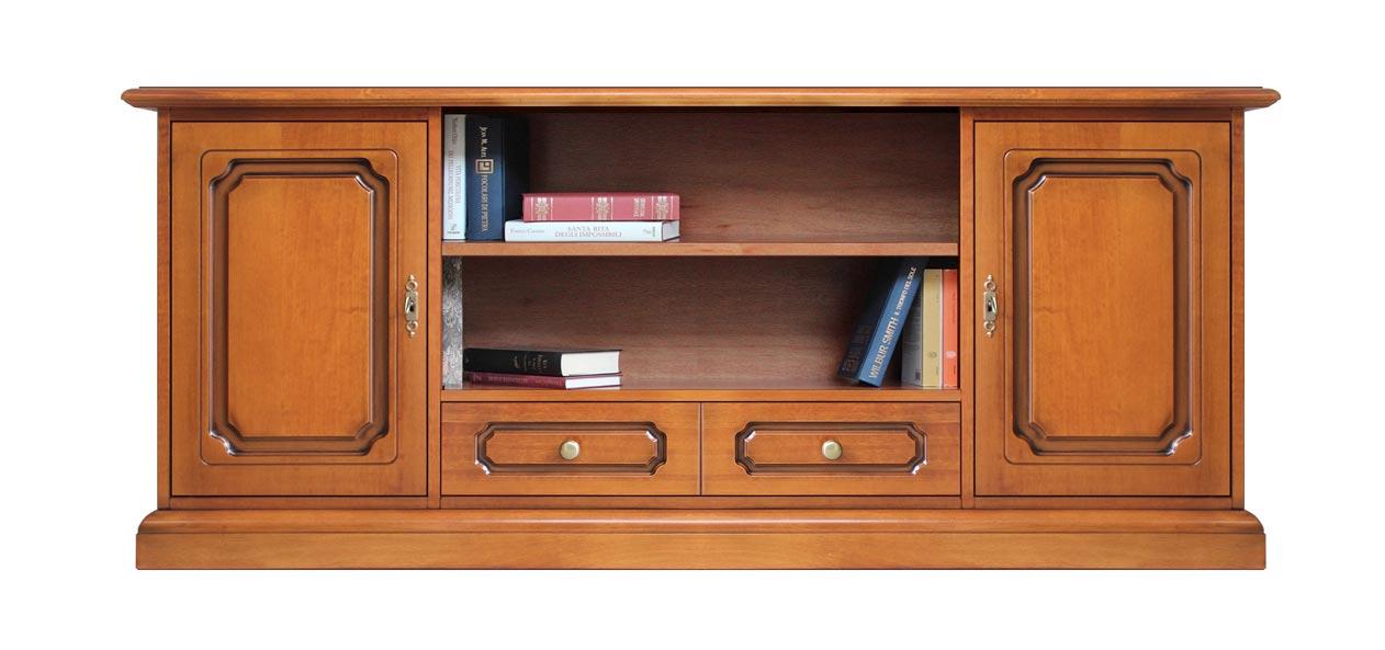 TV-Lowboard aus Holz