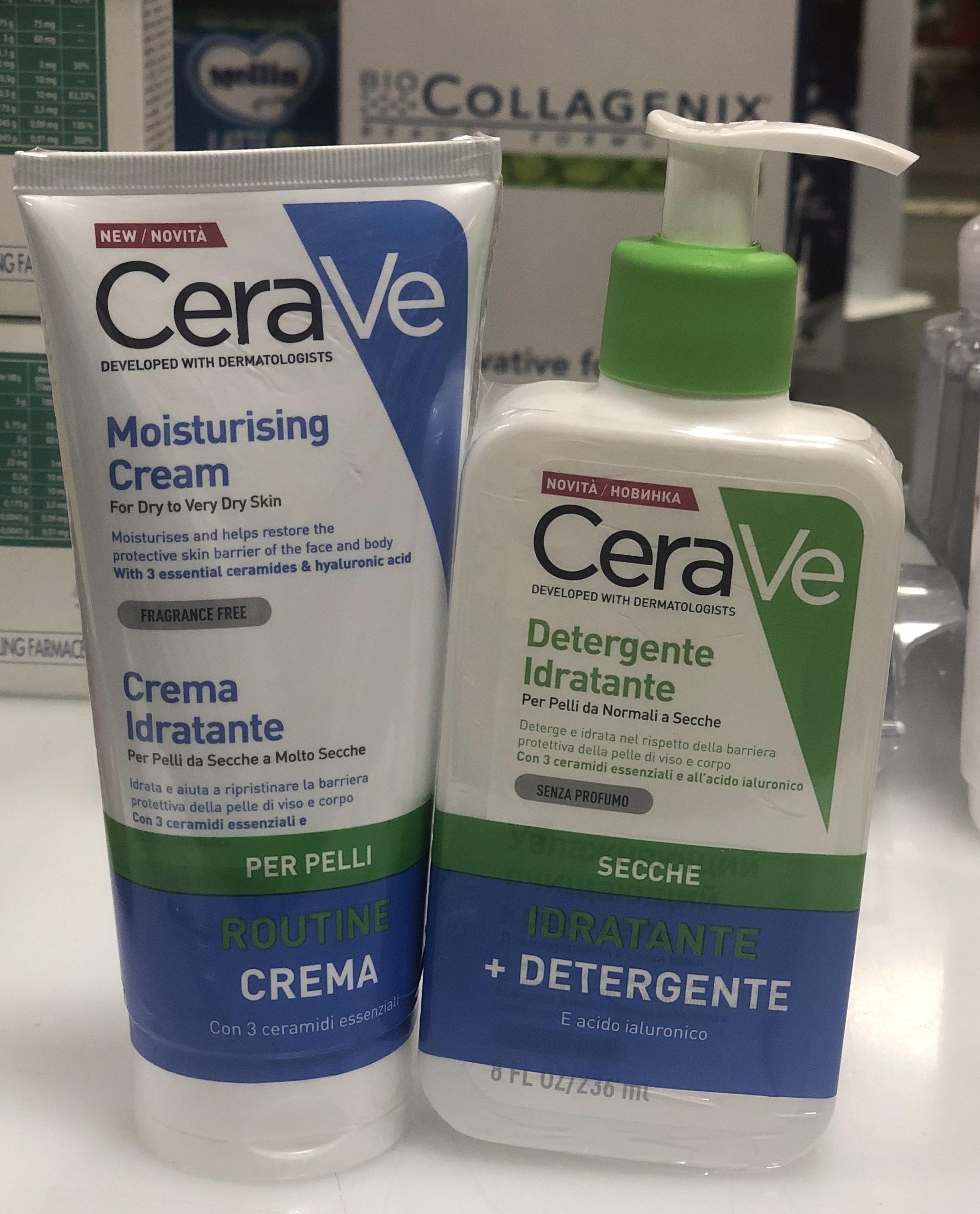 CeraVe detergente + crema idratante