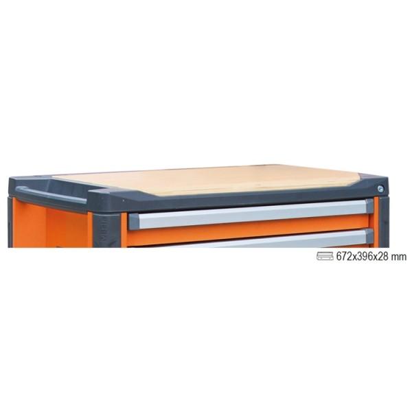 Piano di lavoro in legno per cassettiera C37 - 3700/PLL