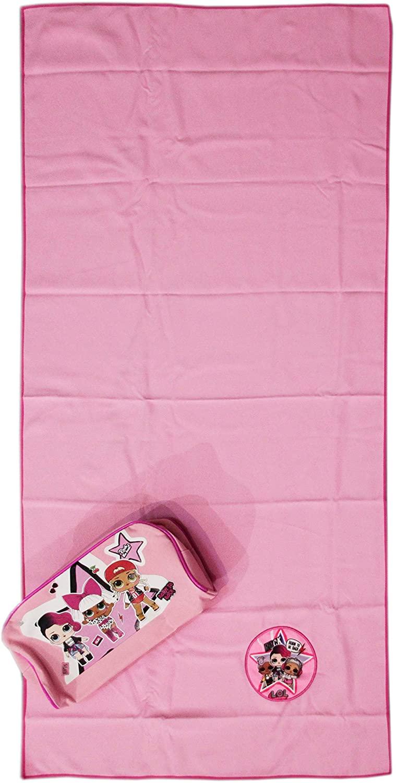 Asciugamano in Microfibra Lol Surprise cm 50x100 con Beauty Trousse