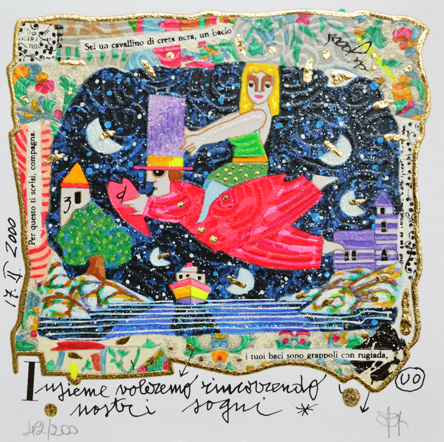 Musante Francesco Serigrafia polimaterica Formato cm 20X20