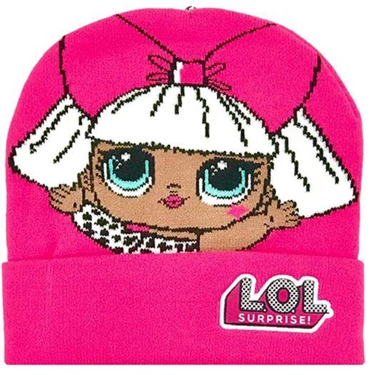 Cappello Lol Surprise Berretto Invernale in Maglia fuxia veste dai 5 agli 8 anni
