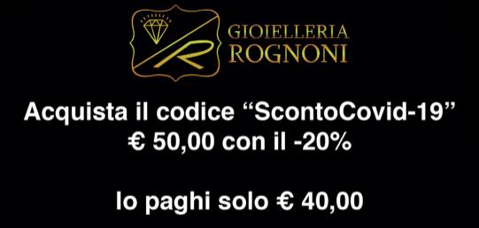 Buono Sconto -20 % Emergenza Corona Virus Covid-19 Cremona Lombardia Italia