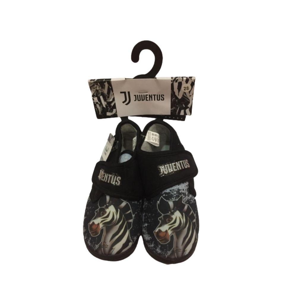 Pantofole a scarpina numero 26 27 28 29 30 31 Juventus nero