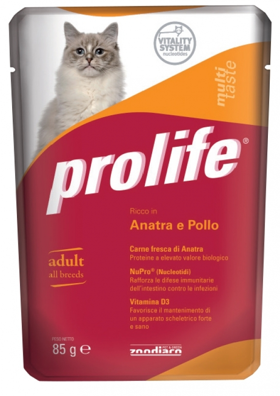 PROLIFE GATTO ANATRA E POLLO UMIDO 85G