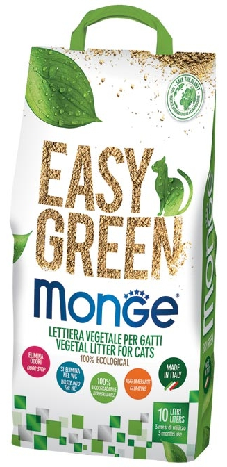 MONGE LETTIERA EASY GREEN VEGETAL 10 L