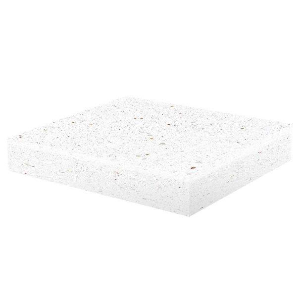 Imer testata terminale coprimuro unico evolution in cemento levigato bianco mis.int.22x22cm