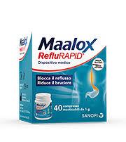 Maalox reflurapid 40 compresse masticabili