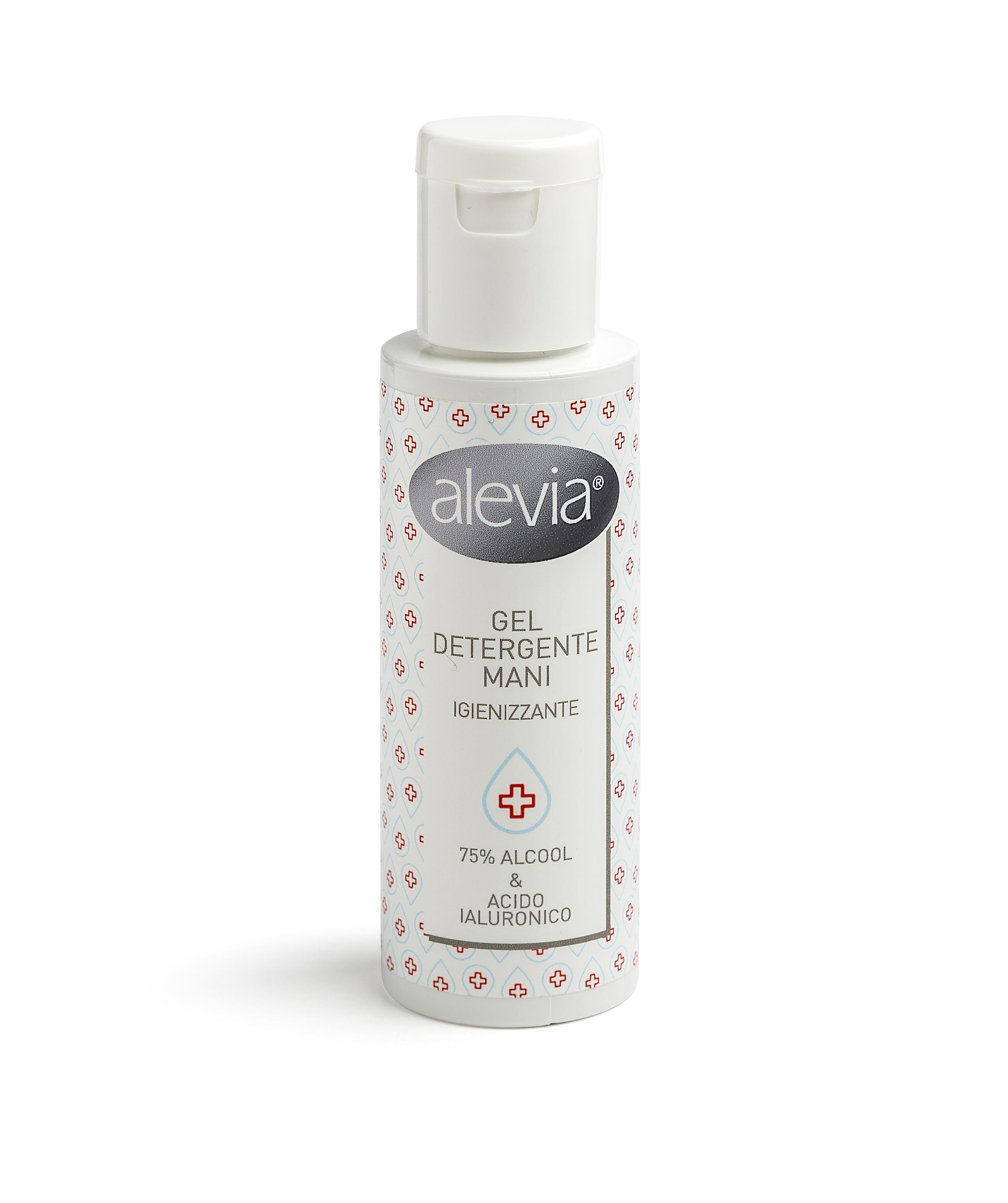 Alevia gel detergente mani igienizzante - con acido ialuronico e 75% di alcool