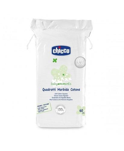 Quadrotti cotone Chicco 60pz