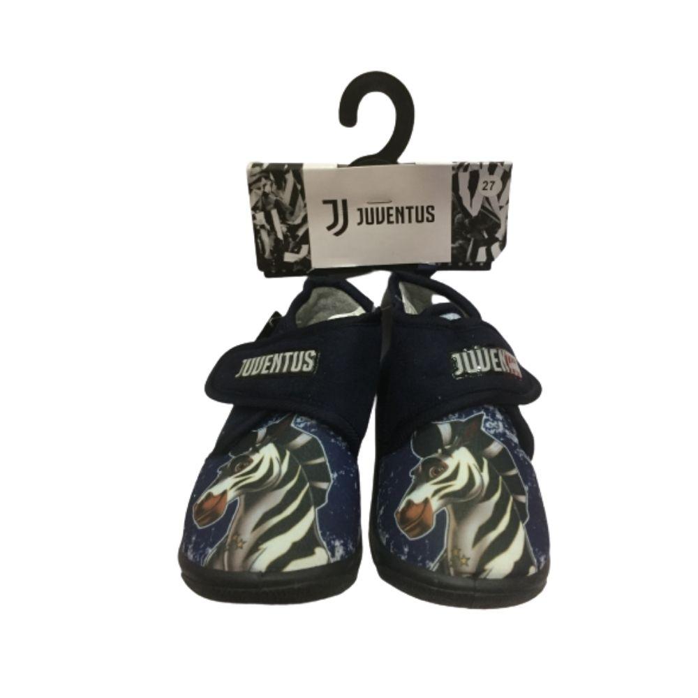 Pantofole a scarpina numero 33 Juventus bambino blu