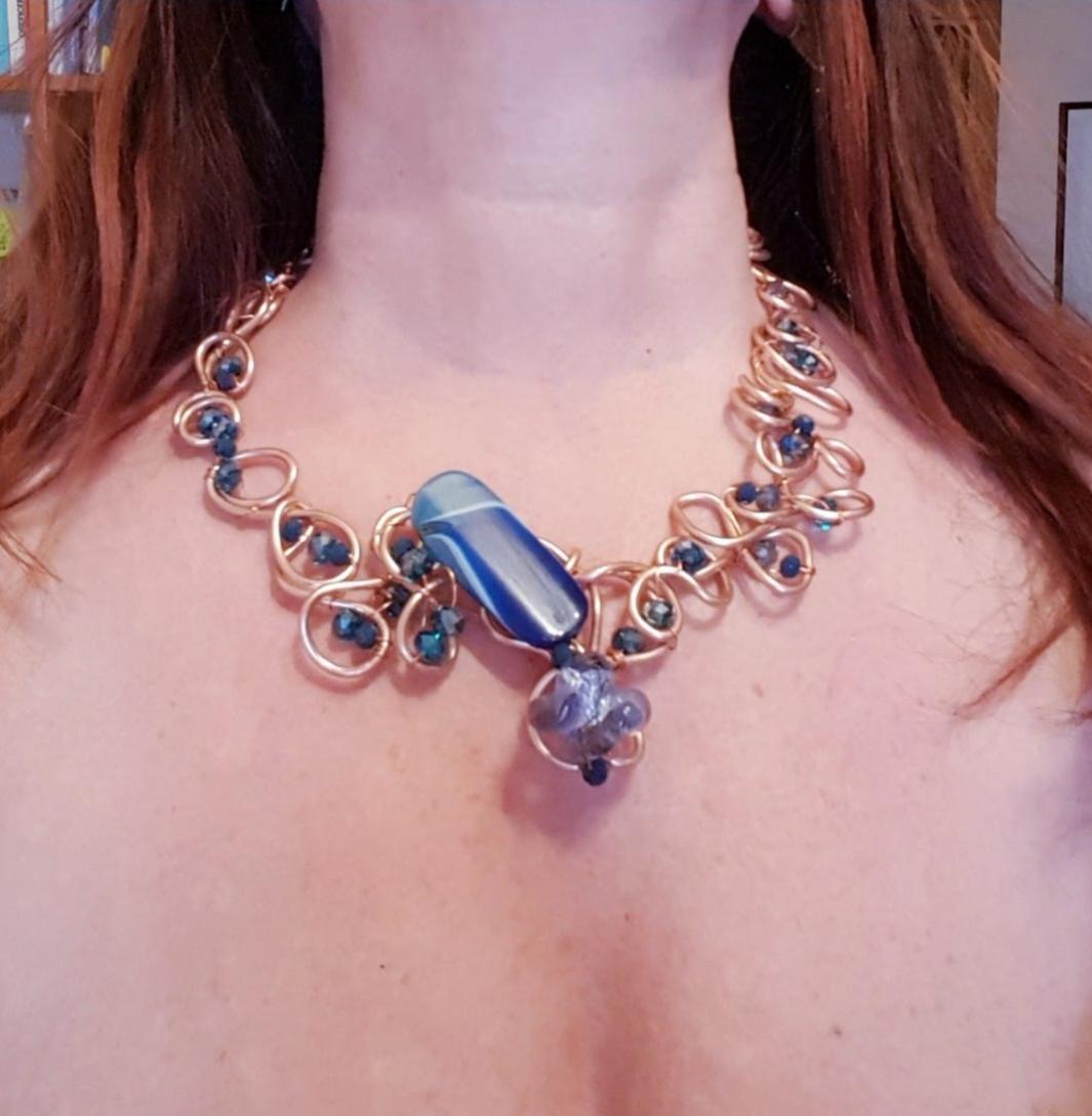 Collana girocollo fatta a mano | Bigiotteria Italiana