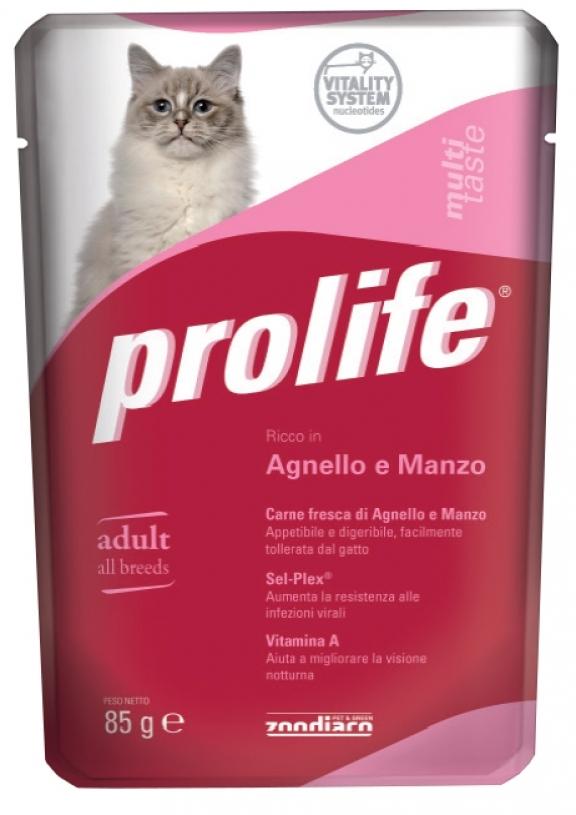 PROLIFE GATTO AGNELLO E MANZO UMIDO 85G