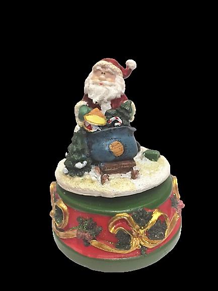 Carillon natalizio Babbo Natale in resina