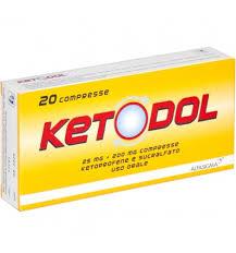 Ketodol 20compresse 25 mg + 200 mg