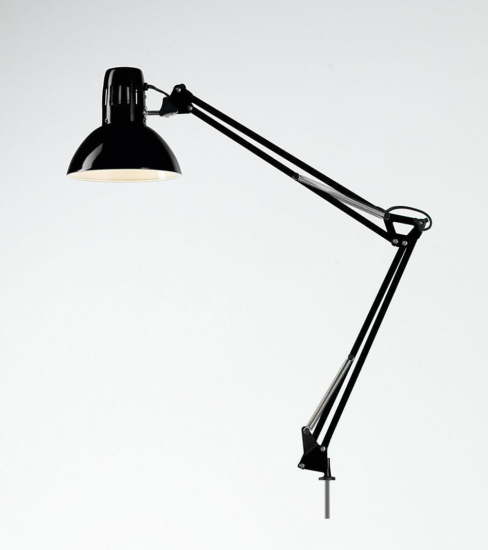 LAMPADA ARCHITETTO PERENZ NERA CON MORSETTO E BASE