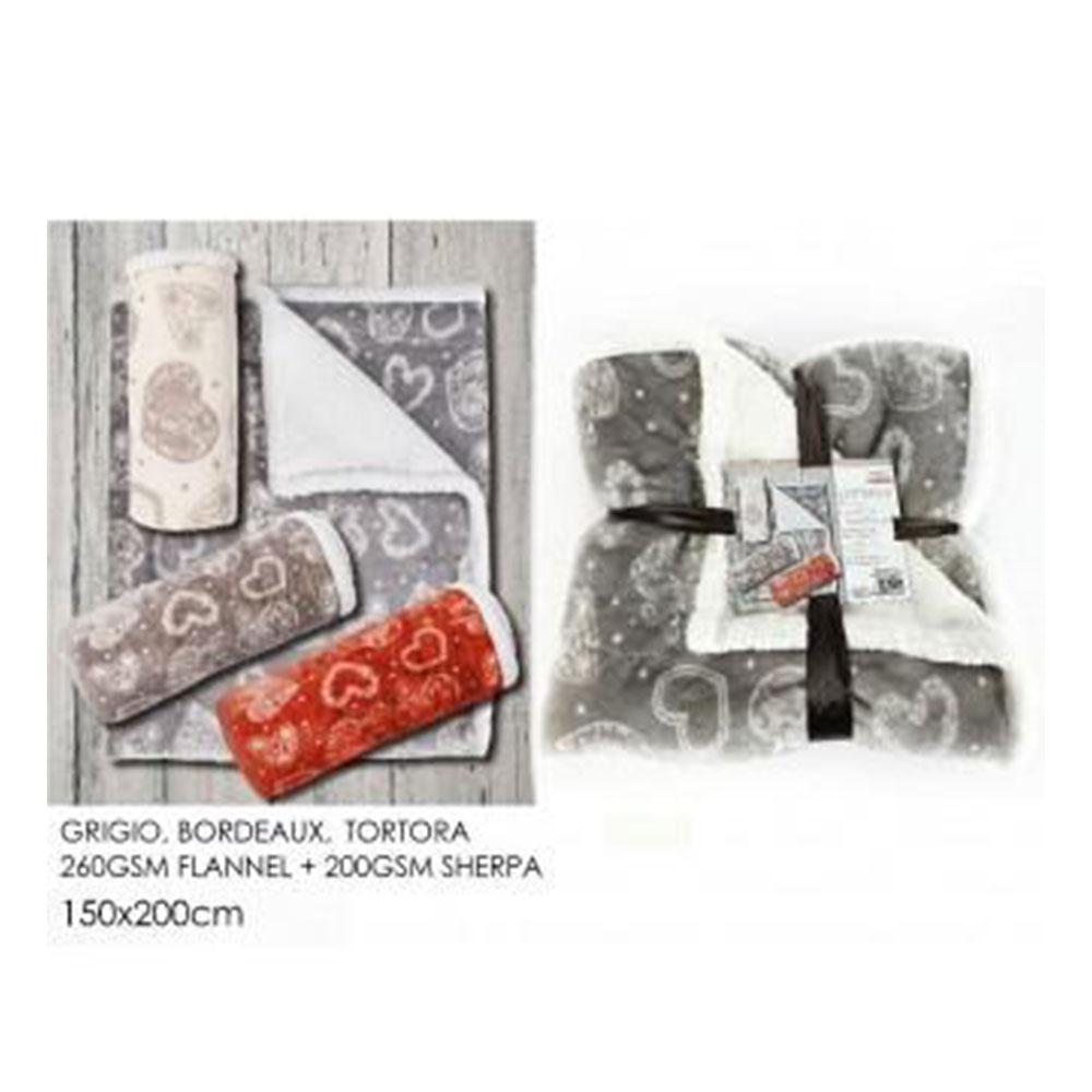 General Trade Coperta Hearts 150x200 cm Agnellato
