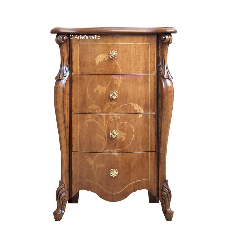 Mueble 4 cajones con marqueterías 'Sensations'