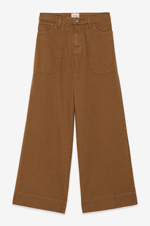 Pantalone crop vita alta