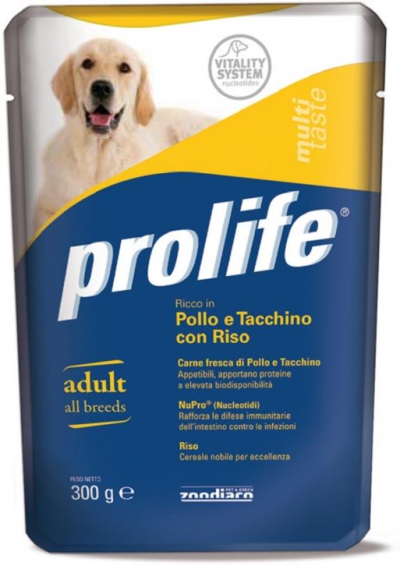 PROLIFE BUSTA POLLO, TACCHINO E RISO 300 GR