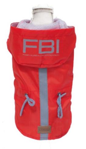 IMPERMEABILE PER CANI VANCOUVER FBI RED Croci offerta Speciale