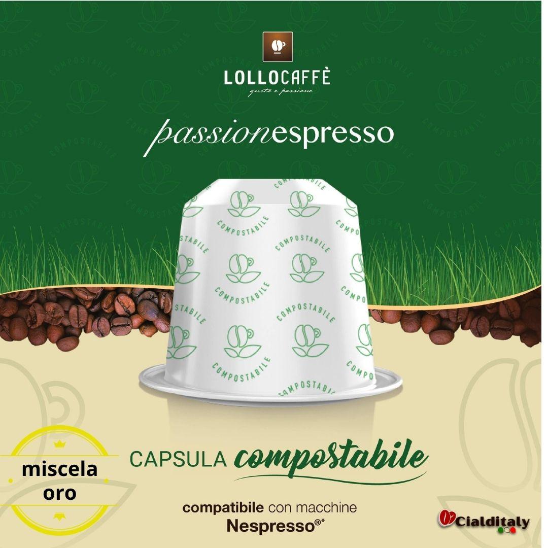 Lollo 12 capsule compostabili per sistema nespresso miscela oro