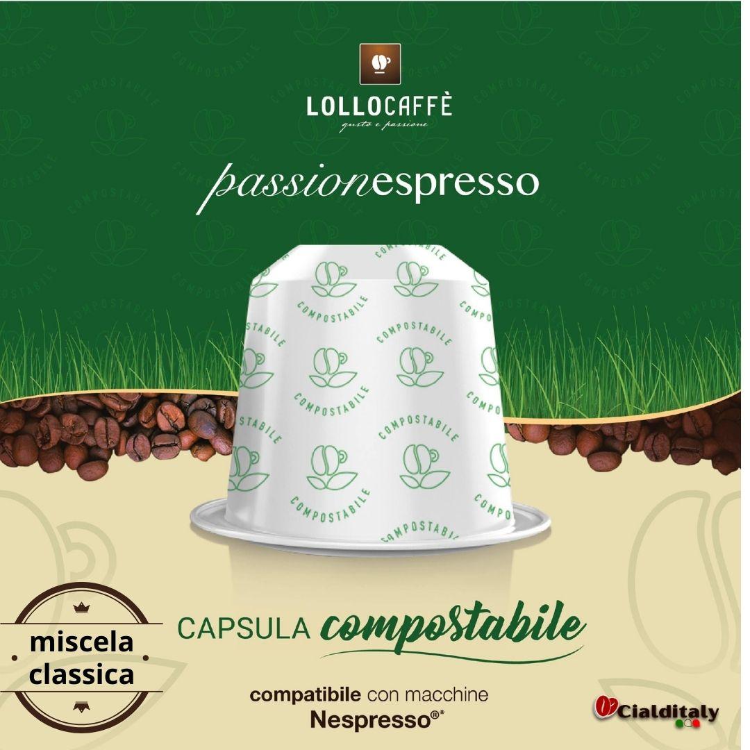 Lollo 12 capsule compostabili per sistema nespresso miscela classica