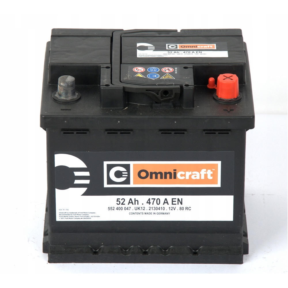 BATTERIA ORIGINALE FORD OMNICRAFT (EX MOTORCRAFT) 52Ah 470A 2130410