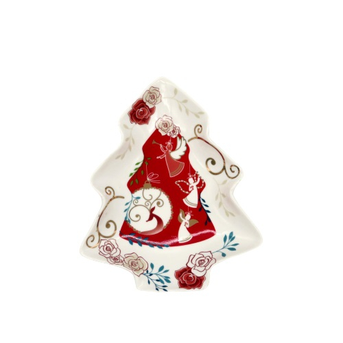 Decorazioni Natalizie Caramelle.Wald Porta Caramelle Albero Di Natale Porcellana Decorata