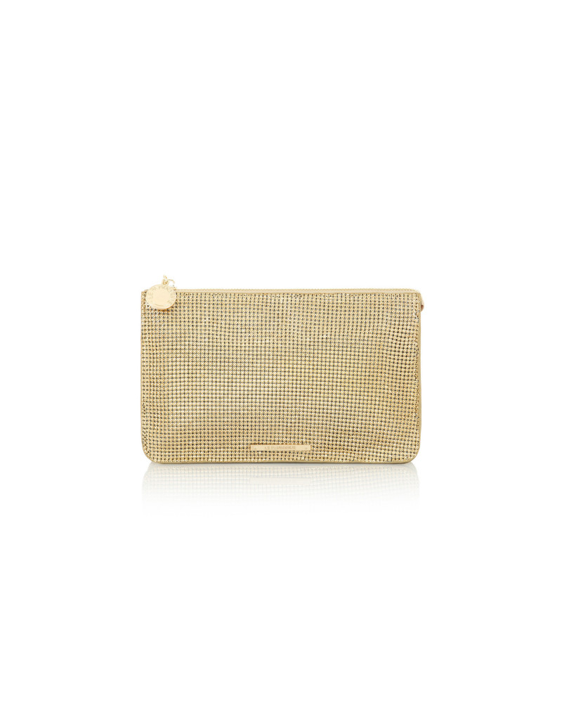 SHOPPING ON LINE LE PANDORINE POCHETTE JOE MINI NOTTE MESH GOLD  NEW COLLECTION WOMEN'S FALL WINTER 2020/2021