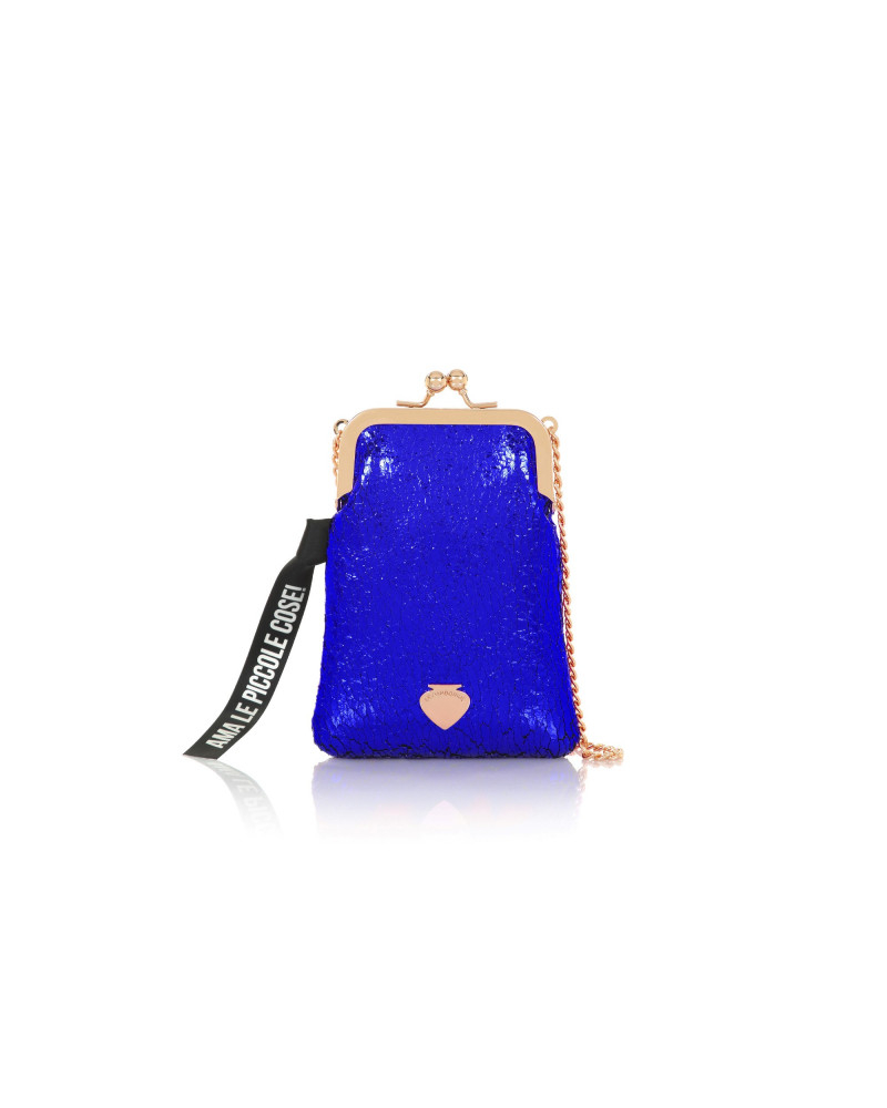 SHOPPING ON LINE LE PANDORINE PHONE BAG COSE ELECTRIC BLUE NEW COLLECTION WOMEN'S FALL WINTER 2020/2021