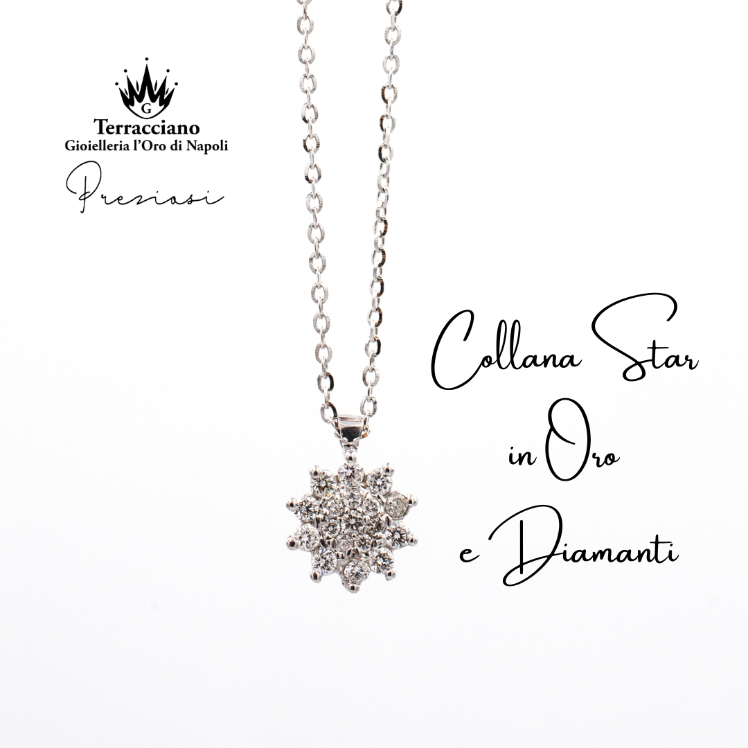 Collana con Ciondolo Star di Diamanti