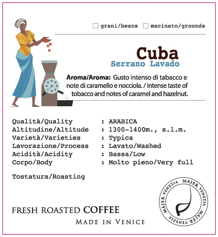 Caffè Majer in grani Cuba Serrano Lavado  -  250gr