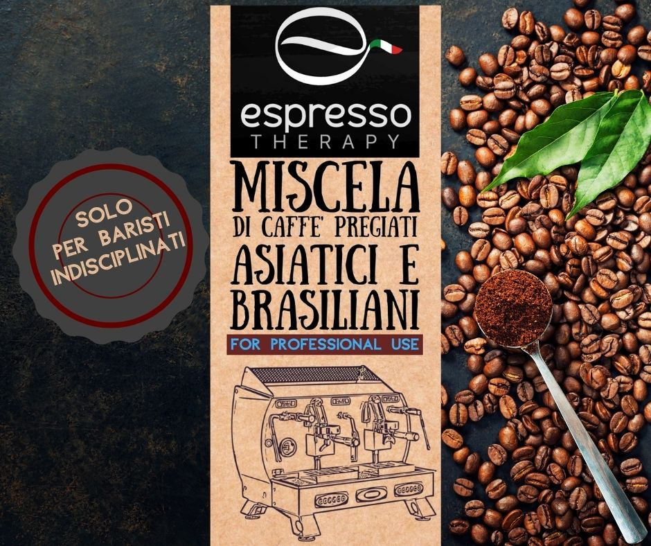 Miscela di caffè pregiati asiatici e brasiliani for professional use 1kg