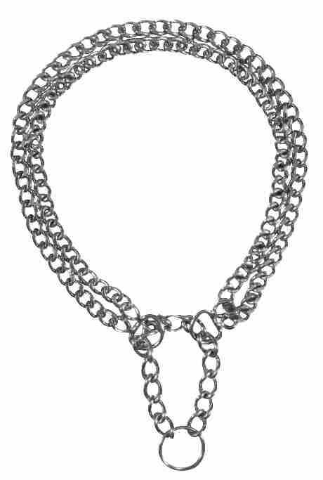 Trixie - Collare semistrangolo due file - 40cm/2mm