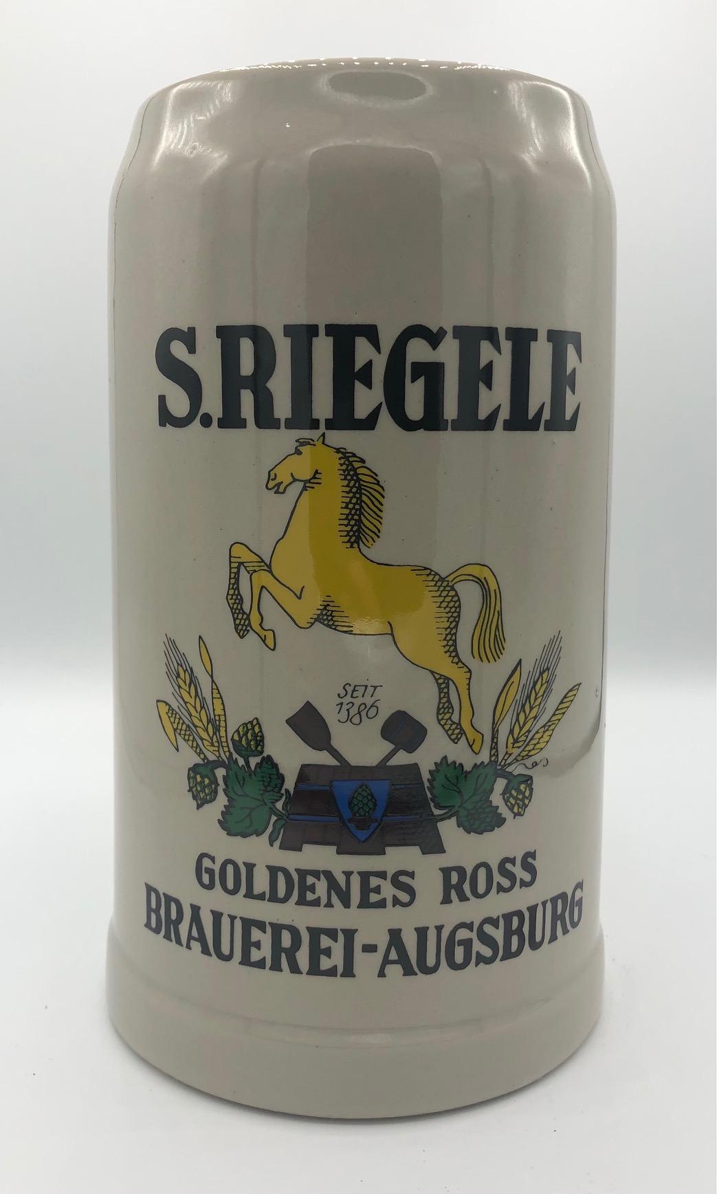 Riegele Humpen - Boccale Grande Ceramica LT.2