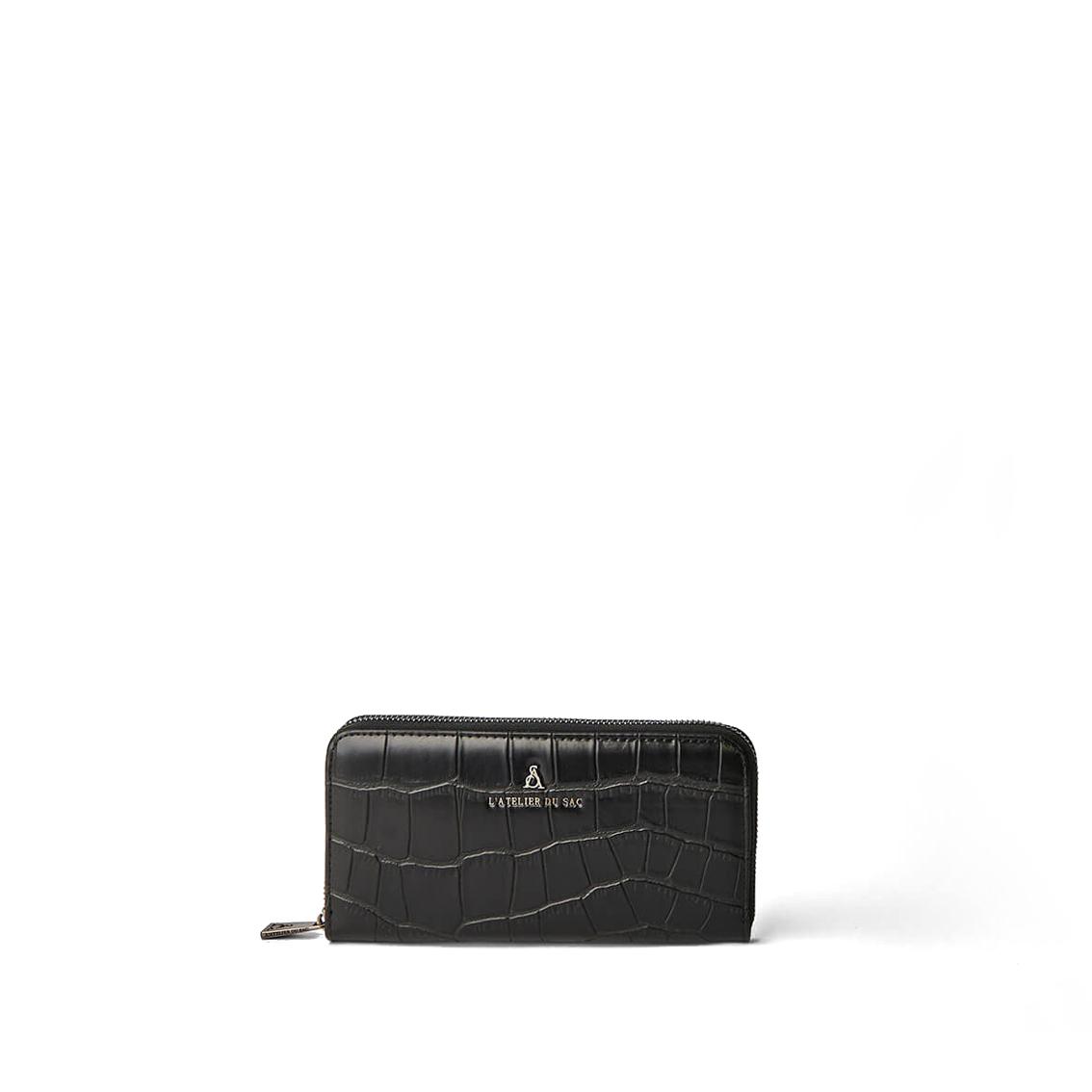 Portafoglio nero con cocco PashBag