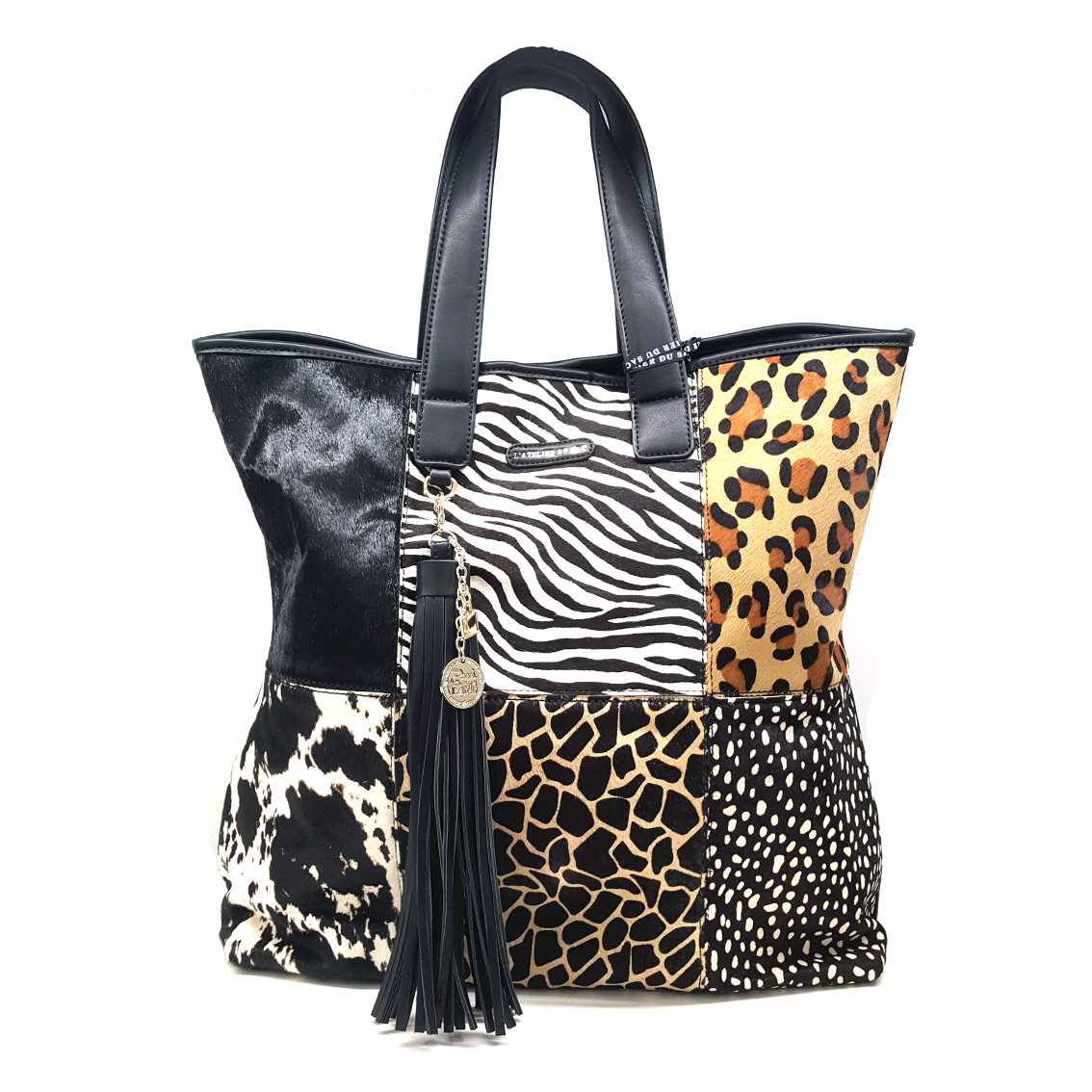 Borsa a mano multipatch animalier PashBag