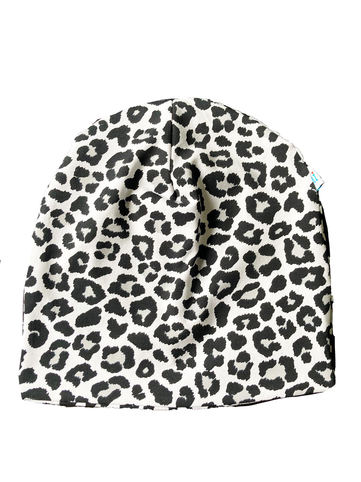 Leopardo - cuffia double face in cotone