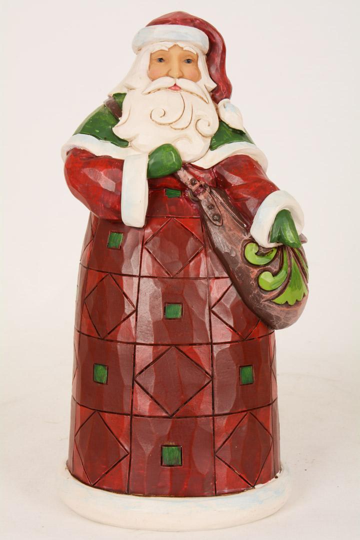 Jim Shore Babbo Natale carillon con sacca doni cm 19