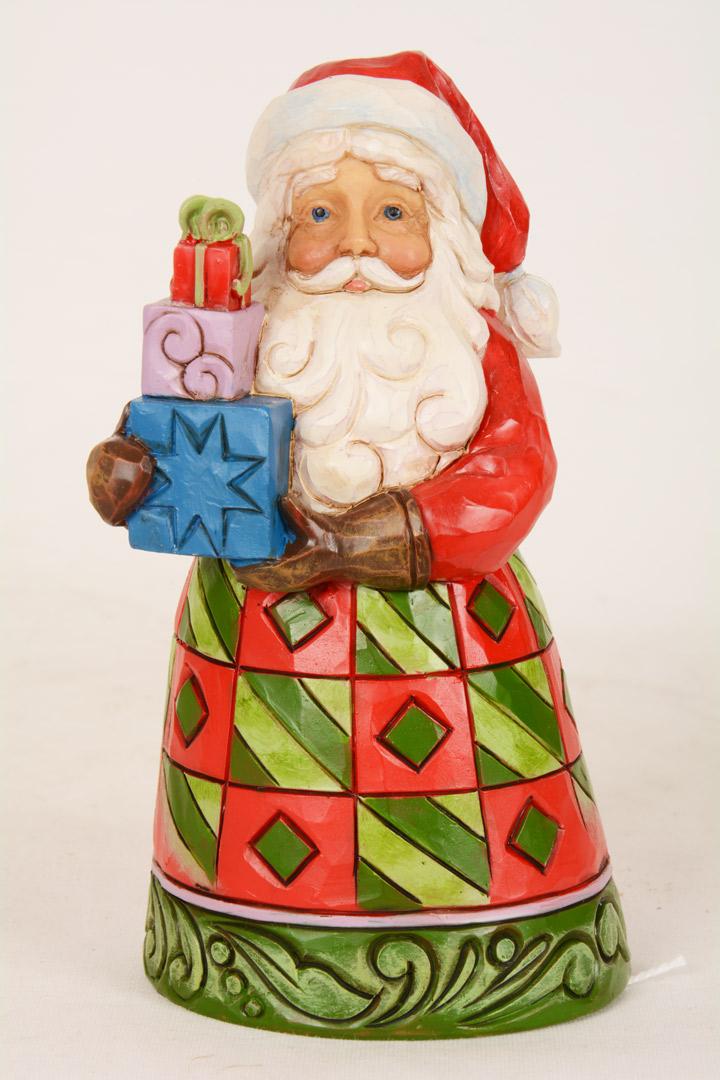 Jim Shore Babbo Natale carillon con doni cm 13