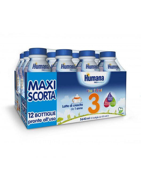 Humana 3 liquido latte 12x470 ml